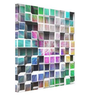 Colorful 3D Cubes 1 Gallery Wrap Canvas
