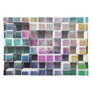 Colorful 3D Cubes 1 Cloth Placemat