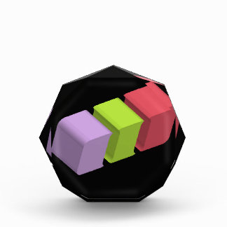 colorful 3d cubes acrylic award