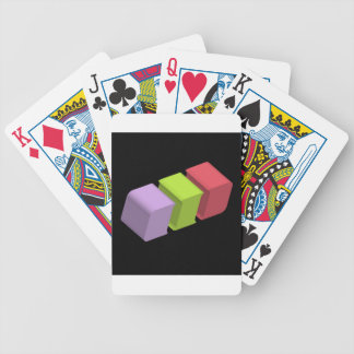 colorful 3d cubes bicycle playing cards