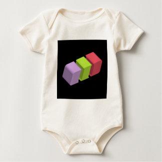 colorful 3d cubes bodysuit