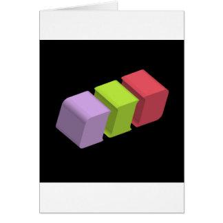 colorful 3d cubes card