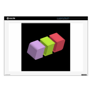 colorful 3d cubes decals for laptops