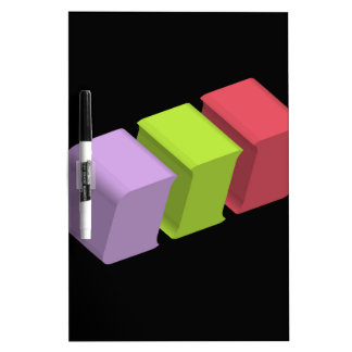 colorful 3d cubes dry erase board