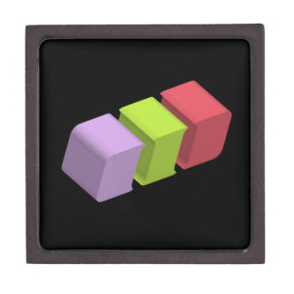 colorful 3d cubes gift box