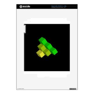 colorful 3d cubes iPad 2 skin