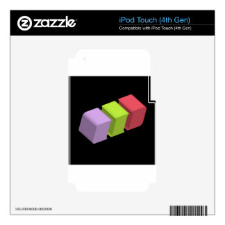colorful 3d cubes iPod touch 4G decal