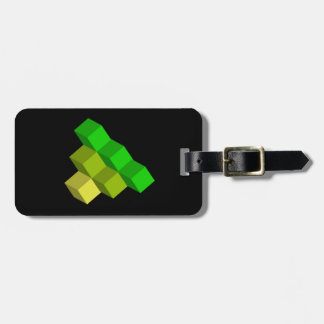 colorful 3d cubes luggage tag