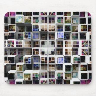 Colorful 3D Cubes Mouse Pad