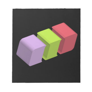 colorful 3d cubes notepad