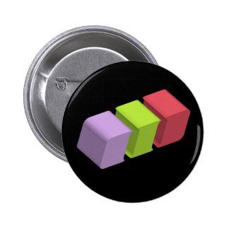 colorful 3d cubes pinback button