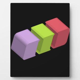 colorful 3d cubes plaque