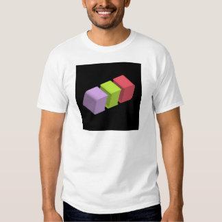 colorful 3d cubes shirt