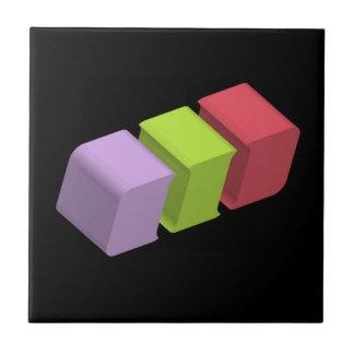 colorful 3d cubes tile