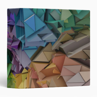Colorful 3D Geometric Abstract Shapes Binder