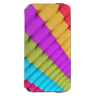 Colorful 3d Geometric iPhone 6 Wallet Case