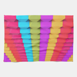 Colorful 3D Geometric Kitchen Towel