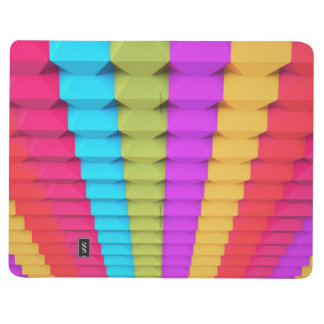 Colorful 3D Geometric Pocket Journal