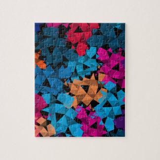 Colorful 3D geometric Shapes Jigsaw Puzzle