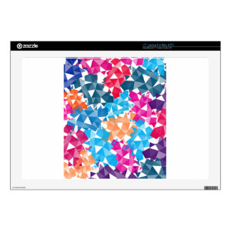 Colorful 3D geometric Shapes Laptop Decal