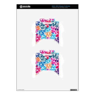 Colorful 3D geometric Shapes Xbox 360 Controller Skin