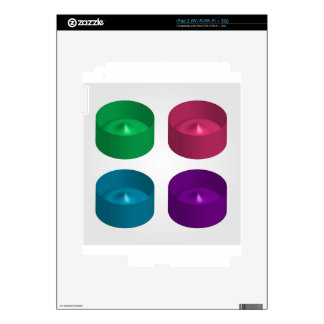 Colorful 3d object decals for iPad 2