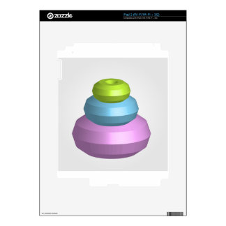 Colorful 3d object iPad 2 decals
