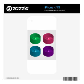 Colorful 3d object iPhone 4 decals