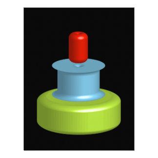 Colorful 3d object letterhead