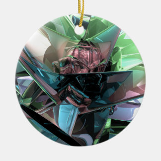 Colorful 3D Reflections Ceramic Ornament