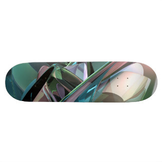 Colorful 3D Reflections Skateboard Deck