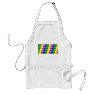 Colorful 3D Staircase Optical Illusion Pattern Adult Apron