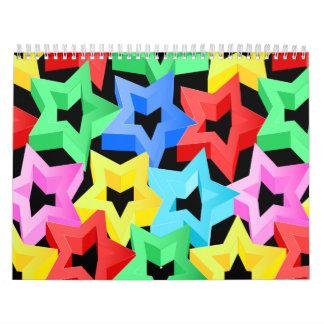 Colorful 3D stars Calendar