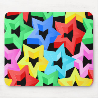 Colorful 3D stars Mouse Pad