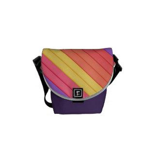 Colorful 3D Stripes Courier Bag