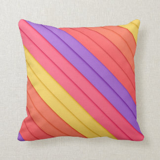 Colorful 3D Stripes Pillows