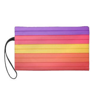 Colorful 3D Stripes Wristlet Purse