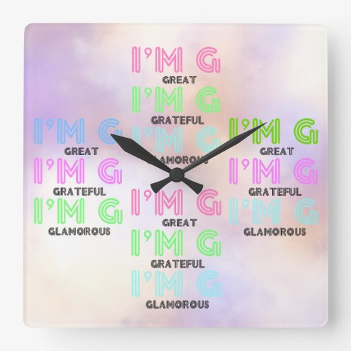 Colorful 3G (Great Grateful Glamorous) Wall Clock