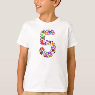 Colorful 5 Birthday T-shirt