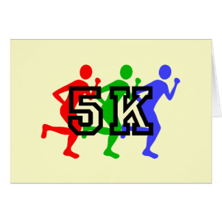 Colorful 5K runners Card