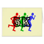 Colorful 5K runners Greeting Card