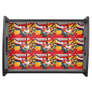 colorful 60s Peter Max style Serving Tray