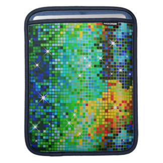 Colorful 80 s Retro Disco Ball Pattern-Green Sleeves For iPads