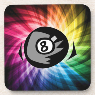 Colorful 8 ball beverage coaster