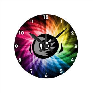 Colorful 8 ball round wallclocks