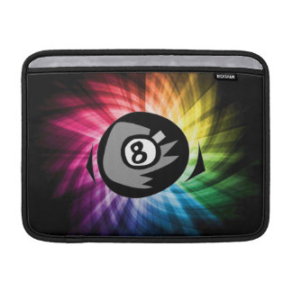 Colorful 8 ball MacBook sleeve