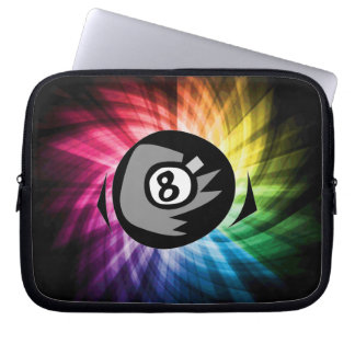 Colorful 8 ball laptop sleeves