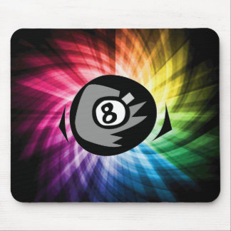 Colorful 8 ball mouse pad