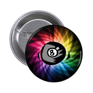 Colorful 8 ball pinback button