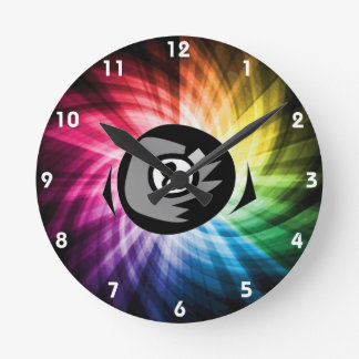 Colorful 8 ball round clock